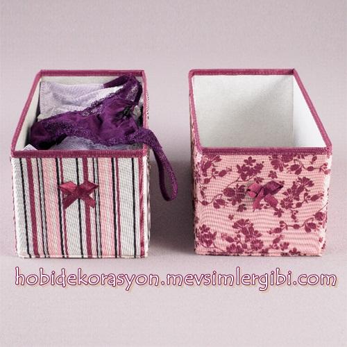tchibo ev ve dekorasyon küçük kumaş muhafaza kutuları dolap içi düzenleyiciler
