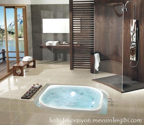 süper modern banyo küvet lavabo modelleri dekorasyonları dekorasyonu dekoru stilleri çeşitleri resimleri