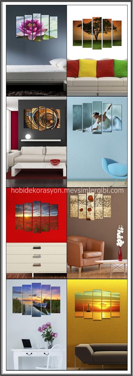 Dekorjinal 5 Parçalı Dekoratif Tablo Modelleri Trendyolda