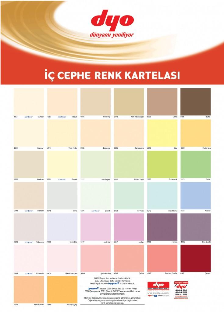 dyo 2012 iç cephe renk kataloğu renk kartelası