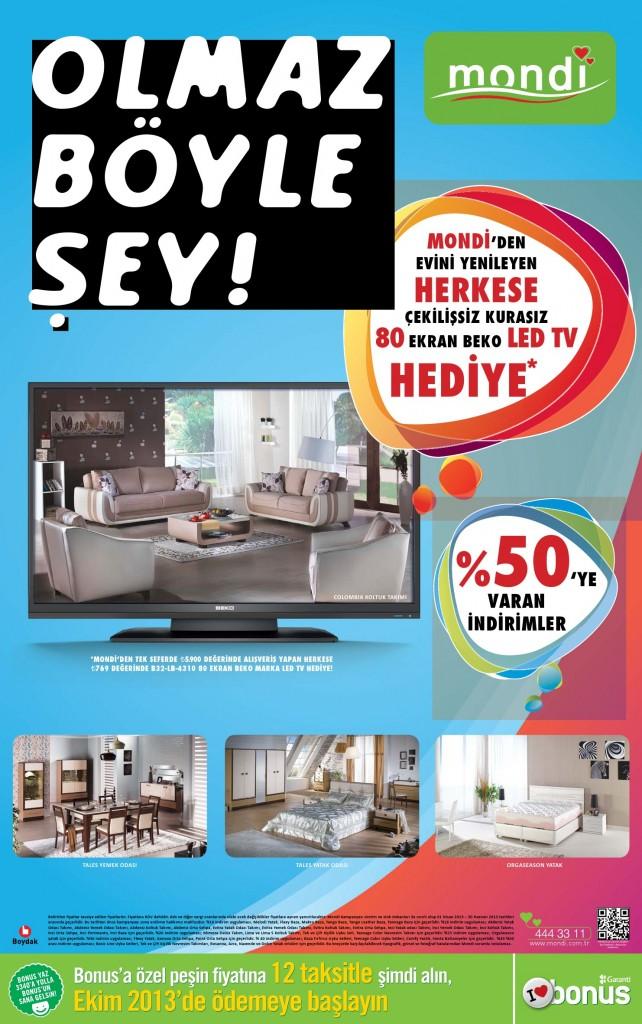 Mondi mobilya 2013 LED TV kampanyası