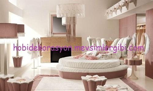 pudra pembesi yatak odası dekorasyonu