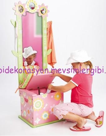 fatih kıral kız çocuk odası aksesuarları buds aynalı sandık