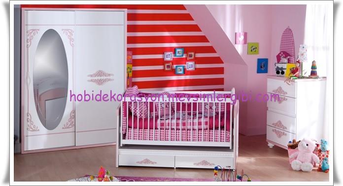 2014 kız bebek odaları bebek odası takımı