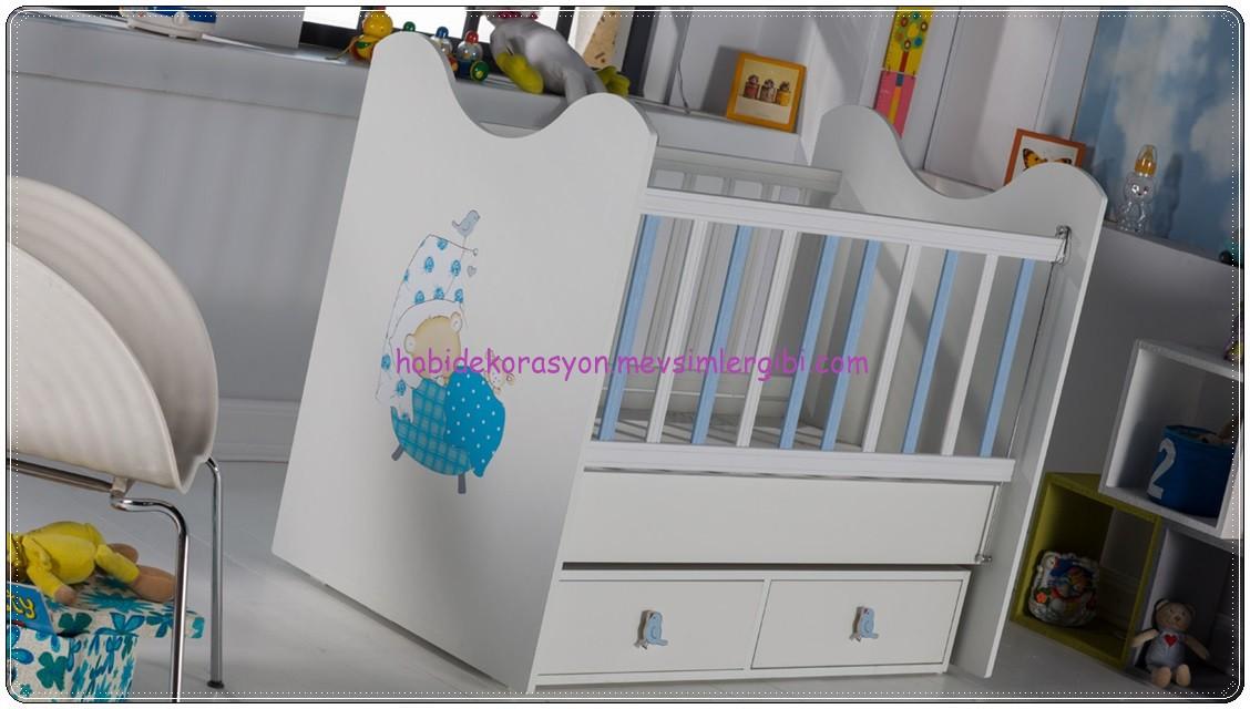 istikbal mobilya 2014 kız erkek bebek odaları sweet baby rooms sleep friendy mavili  bebek beşik beşiği