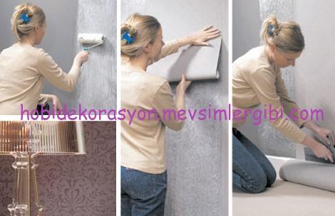 duvar kağıdı nasıl uygulanır