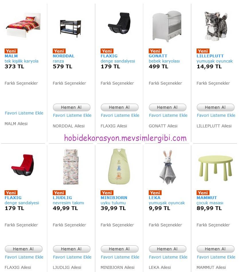yeni ikea çocuk ürünleri ve fiyatları